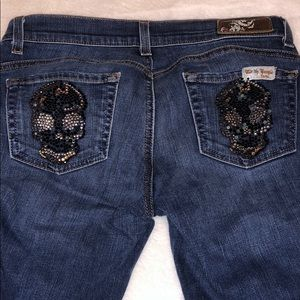 Denim - Dark blue bootcut jeans, women's size 29